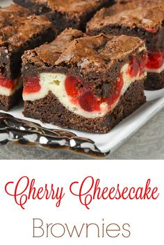 An outstanding soft chewy brownie with a cheesecake centre that gets sweet glacé cherries baked into it. Another great freezer friendly cookie bar recipe. Chocolate Cheesecake Recipes, Cheesecake Brownies, Brownie Recipes, Cookie Recipes, Keto Cheesecake, Pumpkin Cheesecake, Chocolate Desserts, No Bake Desserts, Just Desserts