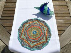 Renkli Amerikan Servisi 35 cm çapında Amerikan ServisMisket Keten kumaşBaskılı, renklerde solma yapmayan, kolay.... 355709