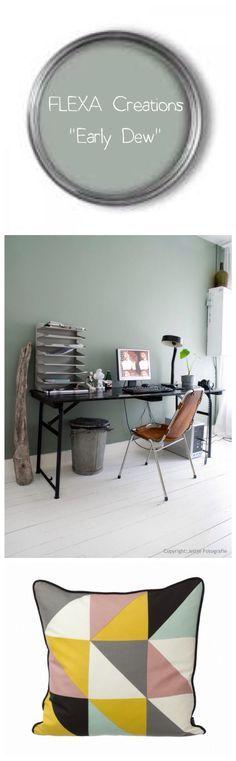 Mooi om een brocante kast oud groen mee te naken.....  Early dew - FLEXA onze mooie muurverf... mijn lievelingskleur! Kleurnummer 3031 flexa creations.