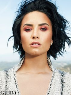 Can't get enough of our June/July 2016 cover star, Demi Lovato? Then check out these exclusive photos from her cover shoot: MORE: Demi Lovato is Latina Magazine's June/July 2016 Cover Star! Demi Lovato Short Hair, Latina Magazine, Woman Crush, Pompadour, Cut And Color, Cute Hairstyles, Makeup Inspiration, New Hair, Makeup Looks