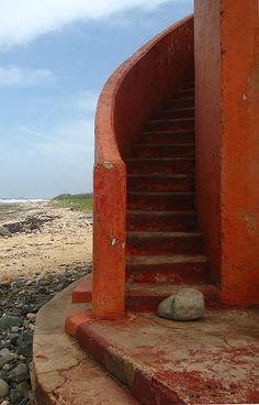 lighthouse stair flight St. Thomas