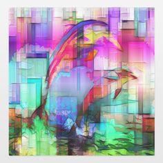 Fun Indie Art from BoomBoomPrints.com! https://www.boomboomprints.com/Product/awakenings/Tim_Hendersons_Art_Dolphins/Shower_Curtains/Standard-71x74/