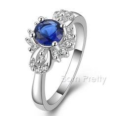 $3.49 Colorful Gem Fine Ring Shining Rhinestone Gemstone Wedding Ring - BornPrettyStore.com