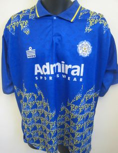 Eyecatching Leeds United mid 90s shirt by Admiral (salt and vinegar - cheese and onion was also available)