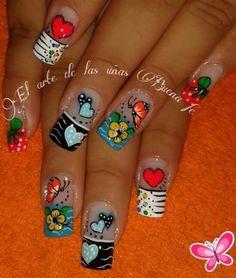 Decoracion de uñas Wow Nails, Cute Nails, Pedicure Designs, Nail Designs, Acrylic Nails, Manicure, Lily, Make Up, Nail Art