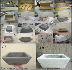 Blog Clik : Como fazer um vaso de cimento para bonsai, aprendendo a fazer!