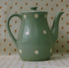 Cornishware green domino.