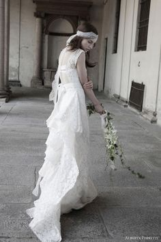 alberta ferretti wedding dress 2014 bridal schonbrunn sleevess gown lace