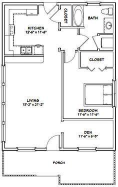 House - - 884 sq ft - Excellent Floor Plans - House Plans, Home Plan Designs, Floor Plans and Blueprints 1 Bedroom House Plans, Guest House Plans, Small House Floor Plans, Modern House Plans, Guest Cottage Plans, Condo Floor Plans, Small Cabin Plans, Cottage Style House Plans, Small Cabins