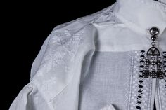 """From costume department at Romsdalsmuseet.  Detailing """"Bjerke"""" -shirts"""