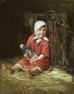 Varka by Kirill Lemokh (1841-1919, russian)