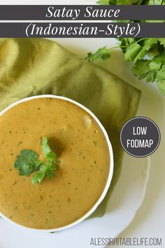 Low FODMAP & Gluten free recipe - Dairy free - Satay Sauce {gluten-free, dairy-free} | A Less Irritable Life