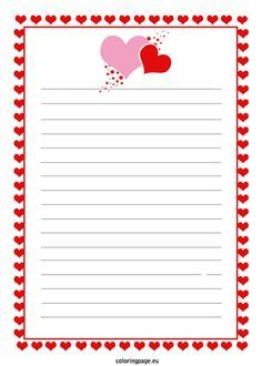 Love Letter Template Templates Free Notes Word Valentine S Day