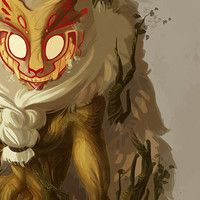 """Character design for the """"the game challenge"""" Kečizubas are Bosnian mythical creatures, they are small and fluffy with with large teeth and hide in bushes along mountain paths."""