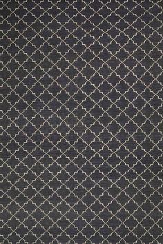 Chhatwal & Jonsson | Dhurry Wool New Geometric Dark Grey/Offwhite Matta | Matilde & Co | Handla online
