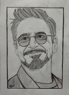 Avengers Drawings, Avengers Art, Iron Man Drawing, Iron Man Art, Marvel Fan Art, Spiderman Art, Art Drawings Sketches Simple, Tony Stark, Man Sketch