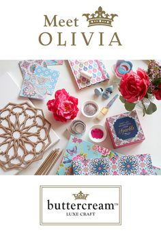 Do you prefer youthful and bright components of decor? Let Olivia's Buttercream collection make your crafting and decorating dreams come true.