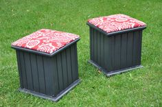 Cute for extra seating in the back yard. Could make these out of our extra fence