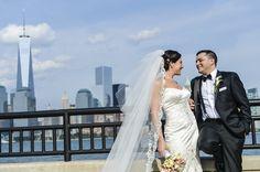 Bridal portrait with the NYC skyline / John Arcara Photography / Contemporary Bride Magazine