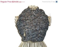 On SALE Hand Knit Infinity Scarf  Blue Tweed  by Shelly6262, $21.21