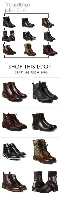 """""""men's boots"""" by leprestigemagazine on Polyvore featuring O'Keeffe, Valentino, Billy Reid, Tom Ford, Want Les Essentiels de la Vie, Etro, HUGO, Alexander McQueen and Mr. Hare"""