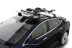 Tesla Accessories and Charging Adapters — Model S Whispbar Roof Rack System