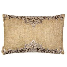 Sivaana Decorate a bed or sofa with Embroidered Pillow. Featuring Sultan leather patchwork with highlights on a beige linen mesh, this rectangular pillow combines natural fabric with traditional patterns for a relaxed, elegant look. Throw Pillow Sets, Lumbar Pillow, Outdoor Throw Pillows, Decorative Throw Pillows, Floor Pillows, Pillow Inserts, Fabric, Leather, Mesh