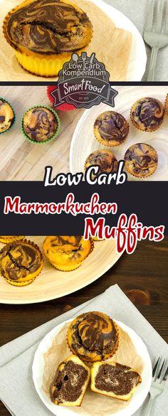 Marmorkuchen-Muffins - Der klassische Marmorkuchen als Low-Carb Variante in fluffige saftige & so köstliche Muffins verpackt. Du wirst diese Muffins lieben :)