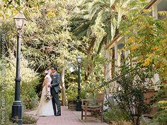 Dallidet Adobe and Gardens, San Luis Obispo, CA. Rental fee is $2,900 for all weddings, BYO everything.