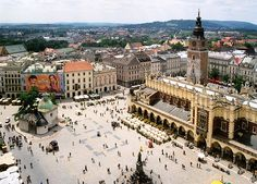 Market Square and Cloth Hall (Sukiennice)  in Krakow, Poland. Ate lots of  peirogis! Tons of history here.