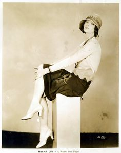 "Myrna Loy... in an ensemble that reminds me of ""Singin' in the Rain,"" one of Debbie Reynolds's costumes"