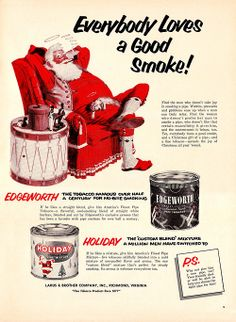 Santa smoking Holiday Pipe Tobacco
