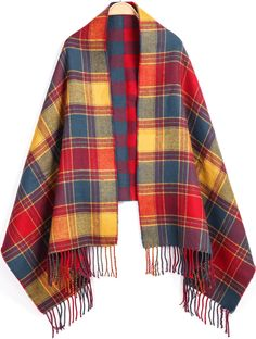 Shop Orange Blue Plaid Tassel Scarve online. Sheinside offers Orange Blue Plaid Tassel Scarve & more to fit your fashionable needs. Free Shipping Worldwide!