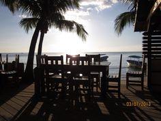 breakfast view at Bananarama - Roatan, Honduras