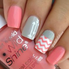 This lovely gray and pink design shows that you don't really need to cover a whole nail with the pattern. We understand if you get tired of cutting those strips.