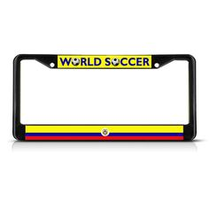 COLOMBIA COLOMBIAN FLAG SPORT SOCCER License Plate Frame Stainless