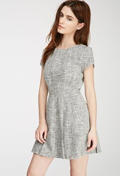 Tweed Fit & Flare Dress | FOREVER21 - 2000100834