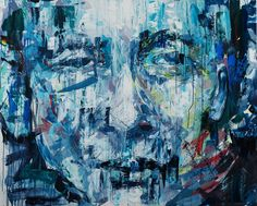 'Somdet Phra Sangkharat' by Henri Lamy  130 x 160 cm, Acrylic on canvas <HOPE exhibition @Modern Gallery, Bangkok, 2014 >