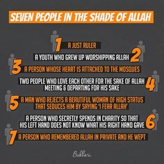 Seven in the shade of Allah