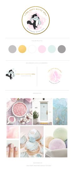 Brand Styling for The Soft Kitty Spa by Machart Meister #branding #brandstyling