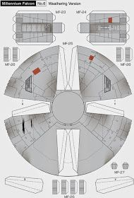 Millennium Falcon Page 6 of 8 Cardboard Model, Cardboard Toys, Paper Airplane Models, Paper Models, Nave Star Wars, Star Wars Art, Paper Toy, 3d Paper, Papercraft Star Wars
