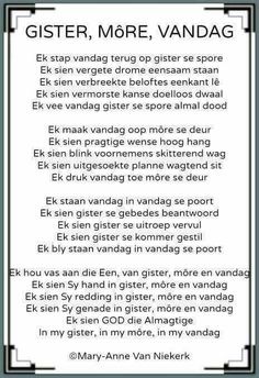 Ek sien God die Almagtige in my gister, in my môre en vandag. Prayer Verses, Bible Prayers, Prayer Quotes, South African Poems, Jesus Christ Quotes, Afrikaanse Quotes, Inspirational Quotes About Success, Good Morning Messages, Good Night Quotes