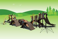 Create rolling hills in your #playground with the Hillscape Adventure! Learn more about the treaded boardwalk design