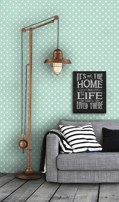 Linen Closet | Polka Dot Pattern Self Adhesive Vinyl Wallpaper D032