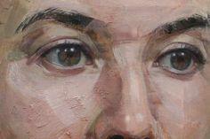 Lisa Hannigan (detail) oil on linen by Colin Davidson #OilPaintingPortrait