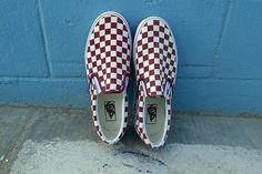 Check. It. Out. The classic Slip-On in Checkerboard Rhubarb. Shop or find a store near you at vans.com