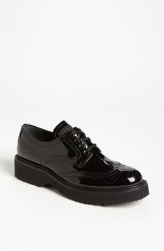 Prada Platform Oxford ..... love, love, love these shoes! Would be perfect with ribbon laces!