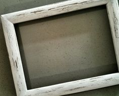 DIY How to White Wash a Frame!!  Easy Instructions!! You just need 3 things!!
