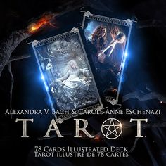Le Tarot by Alexandra V Bach - it will be published in 2017 or 2018. OMG, it will be best Gothic Tarot deck!