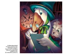 """""""A Whole New World"""" by @Russ Cox. Congrats to Russ on winning 1st place awards for the Published, People's Choice, and R. Michelson Galleries Emerging Artist categories at the 2012 NESCBWI Conference! http://www.smilingotis.com/"""